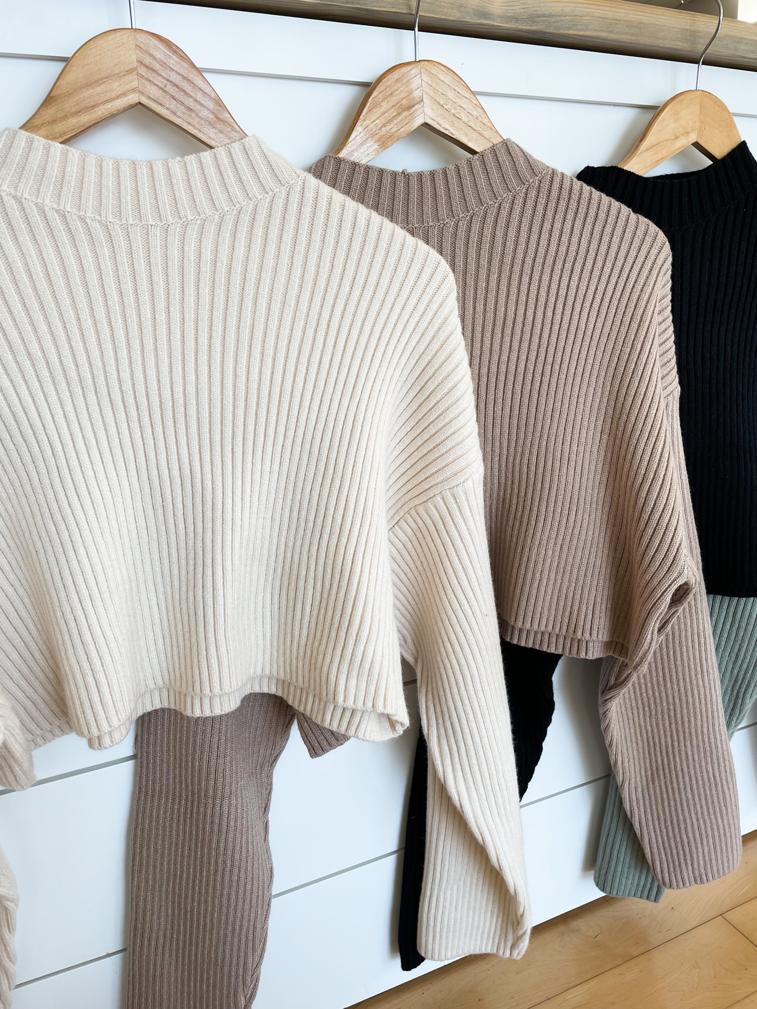 Mable Long Sleeve Ribbed Crop Sweater