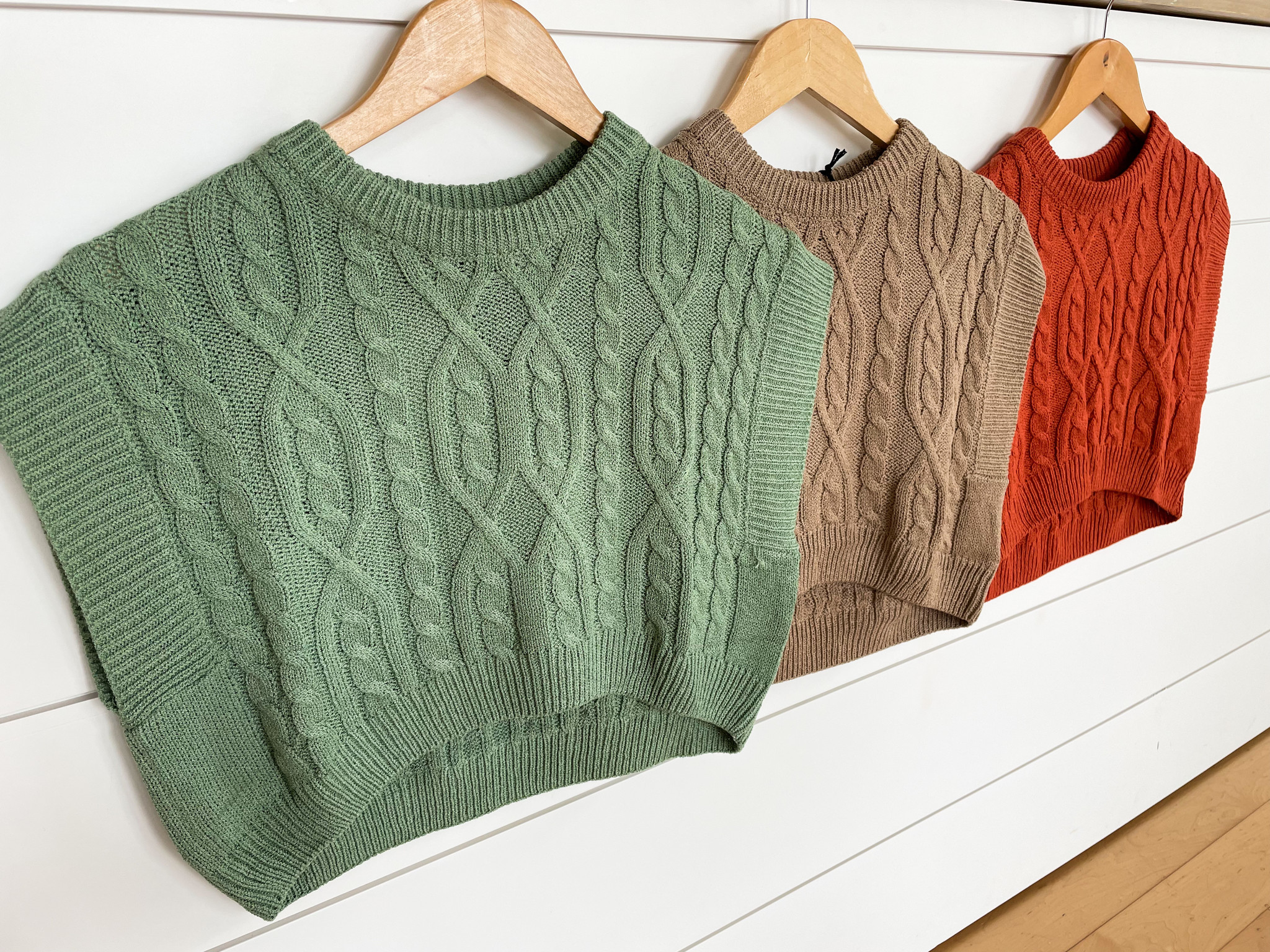 Mimosa Cable Knit Cropped Sweater