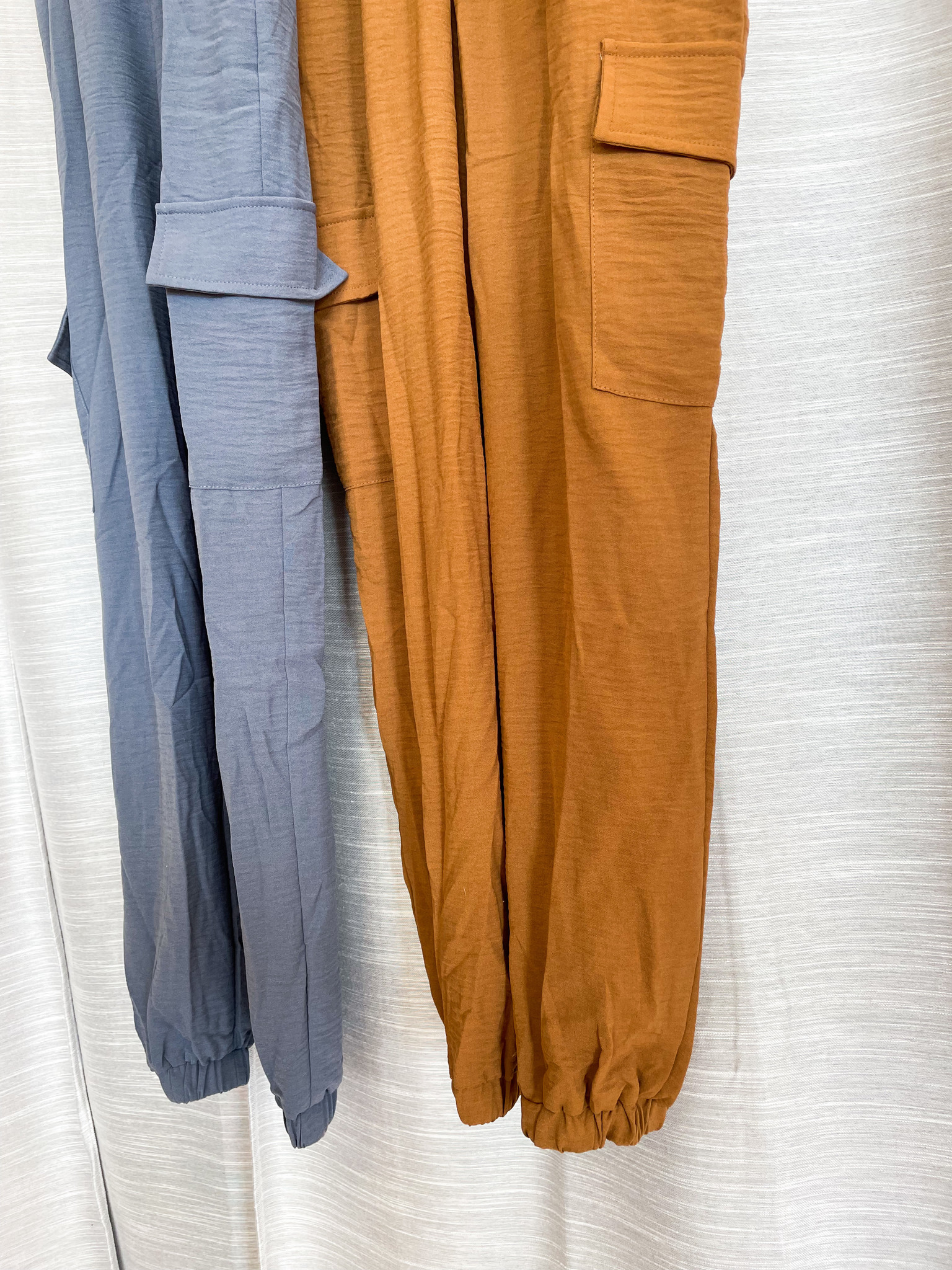 Short Sleeve Woven Cargo Jumpsuit