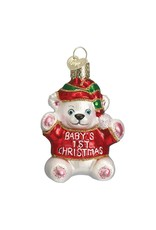 Old World Christmas Bsby's 1st Christmas Bear