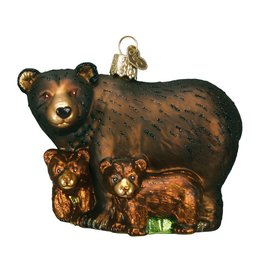 Old World Christmas Bear with Cubs