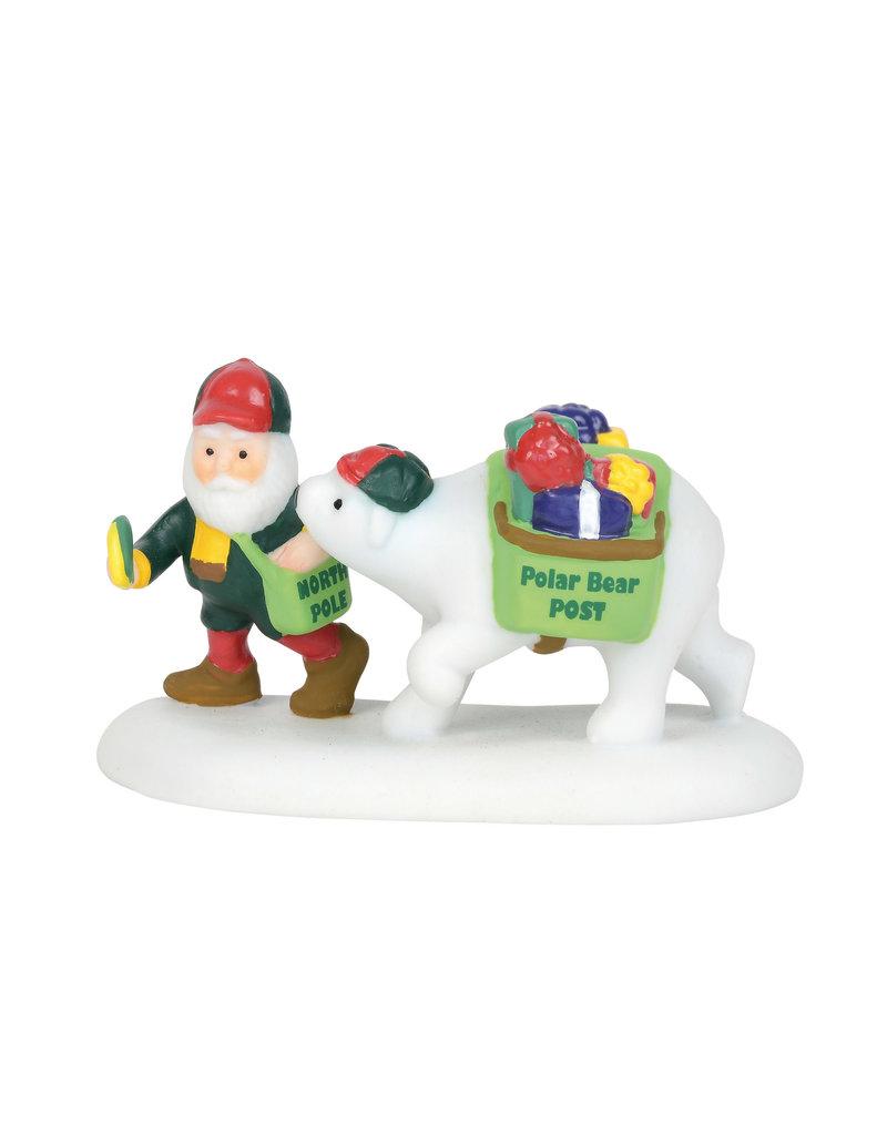 Polar Bear Post for North Pole Village