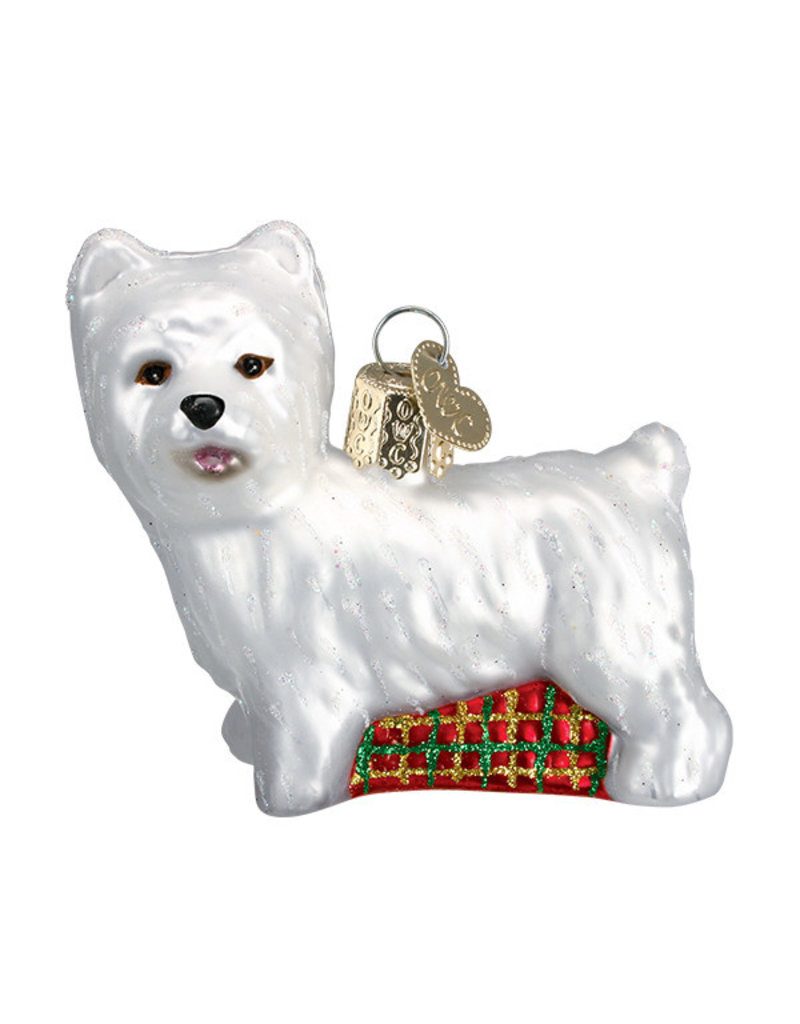 Old World Christmas Westie