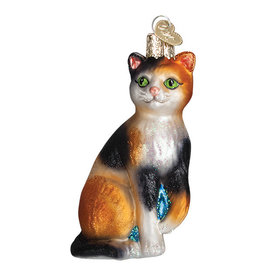 Old World Christmas Calico Cat