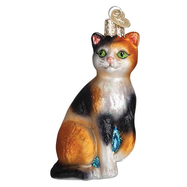 Old World Christmas Calico Cat