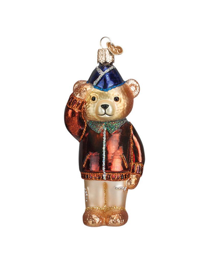 Old World Christmas Air Force Bear