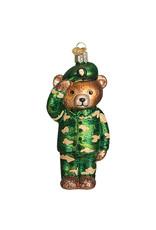 Old World Christmas Army Bear