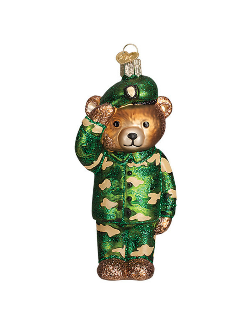 Old World Christmas Army Bear