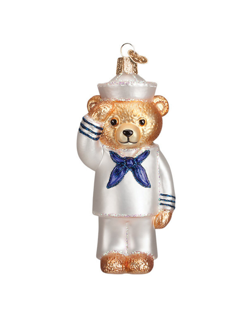 Old Wolrd Christmas Navy Bear