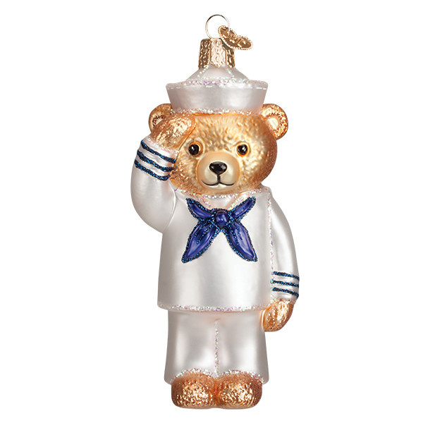 Old Wolrd Christmas Navy Bear
