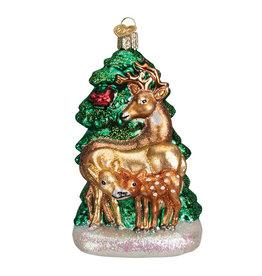 Old World Christmas Deer Family