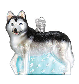 Old Wolrd Christmas Siberian Husky