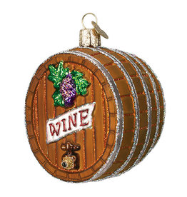 Old World Christmas Wine Barrel