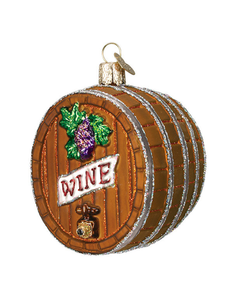 Old World Christmas Wine Barrel