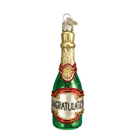 Old World Christmas Champagne Bottle