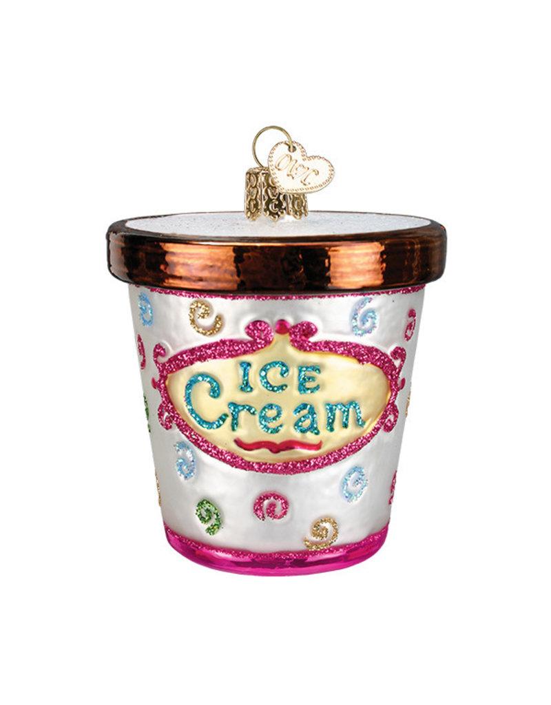 Old World Christmas Ice Cream Carton