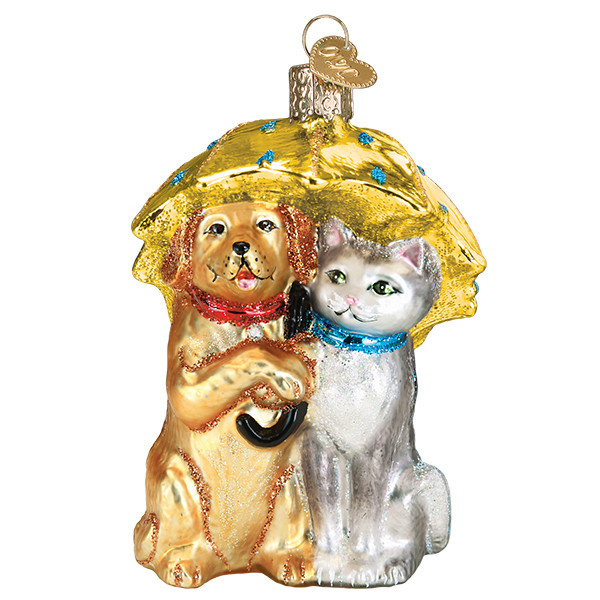 Old World Christmas Raining Cats And Dogs
