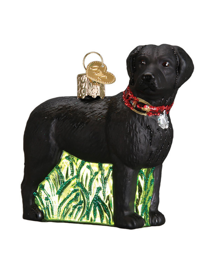 Old World Christmas Standing Black Lab