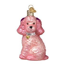 Old World Christmas Pink Poodle