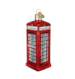 Old World Christmas English Phonebooth