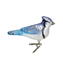 Old World Christmas Stylized Blue Jay