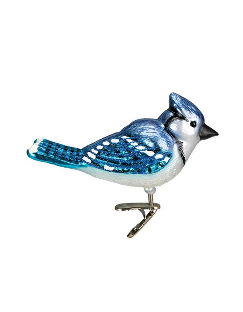 Old World Christmas Bright Blue Jay