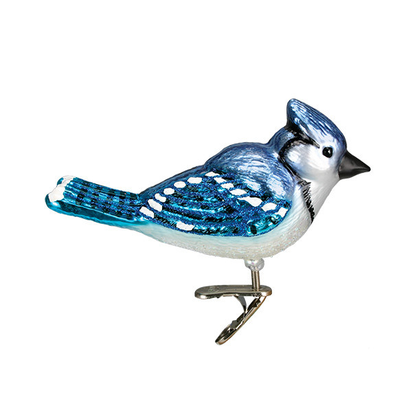 Old World Christmas Bright Blue Jay