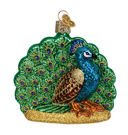 Old World Christmas Proud Peacock