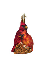 Old World Christmas Pair of Cardinals