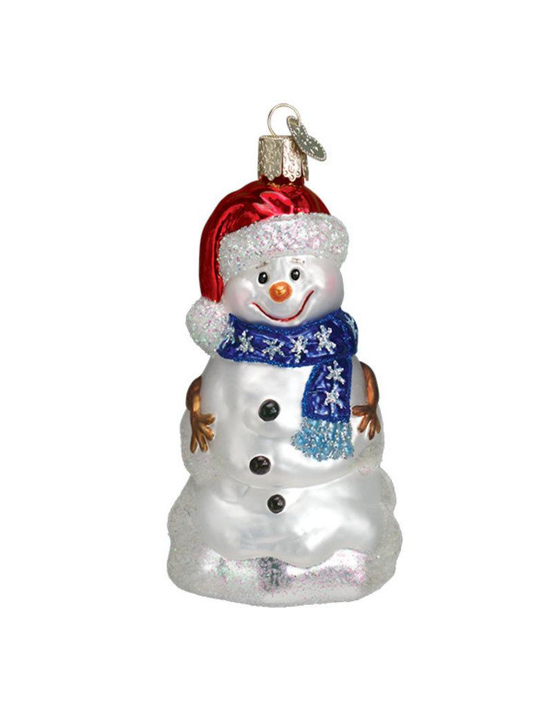 Old World Christmas Happy Snowman