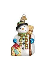 Old World Christmas Gleeful Snowman