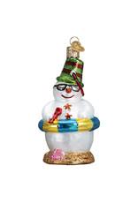 Old World Christmas Snowman on Beach
