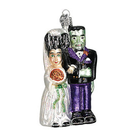 Old World Christmas Frankenstein & Bride