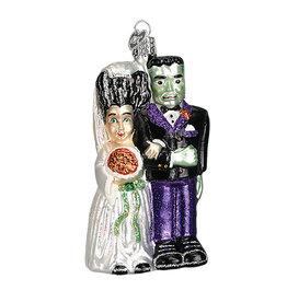 Old World Christmas Frankenstein & Bride