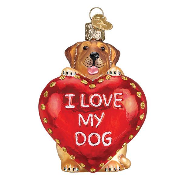 Old World Christmas I Love My Dog