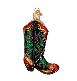 Old World Christmas Holly Berry Cowboy Boot