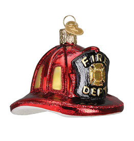 Old World Christmas Fireman's Helmet