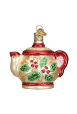 Old World Christmas Holly Teapot