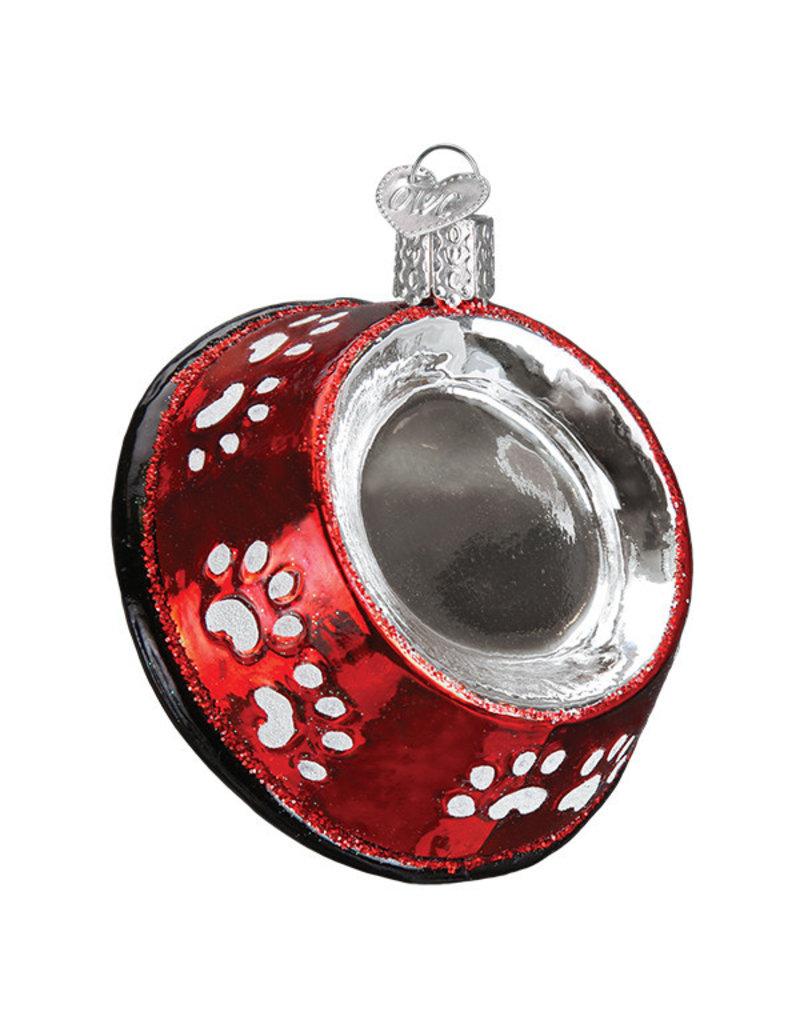 Old World Christmas Dog Bowl