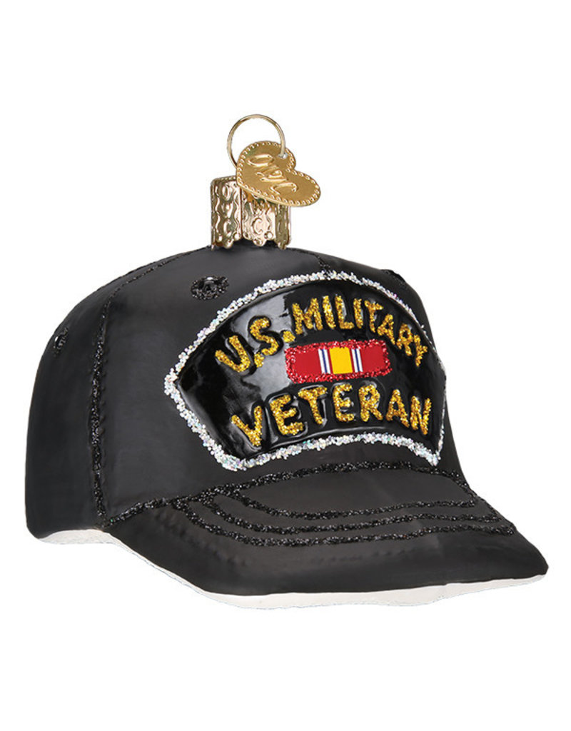 Old World Christmas Veteran's Cap