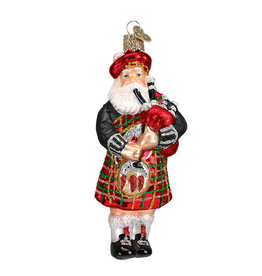 Old Word Christmas Highland Santa