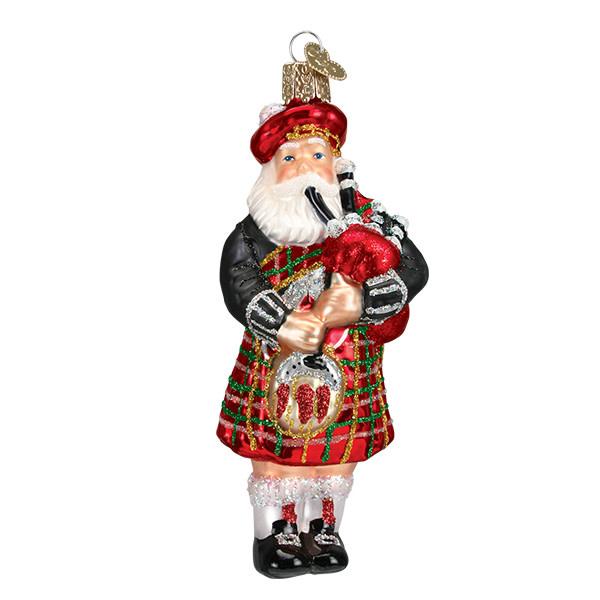 Old Word Christmas Highland Santa