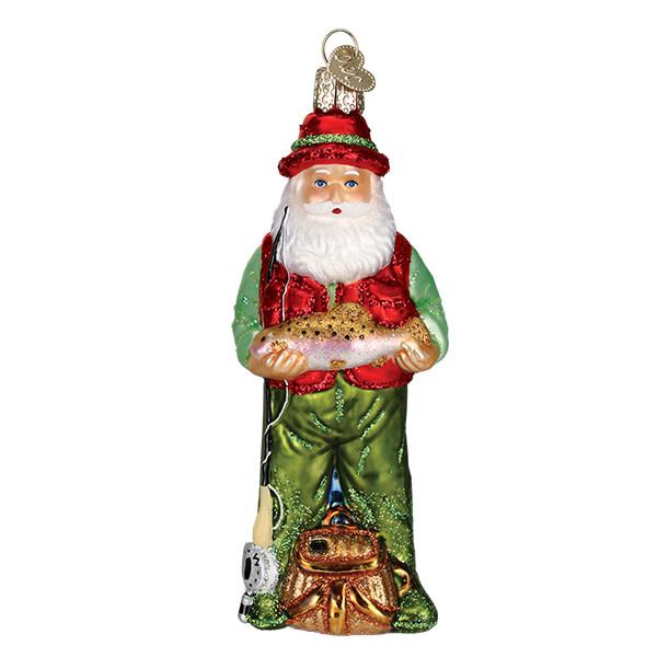 Old World Christmas Fly Fishing Santa