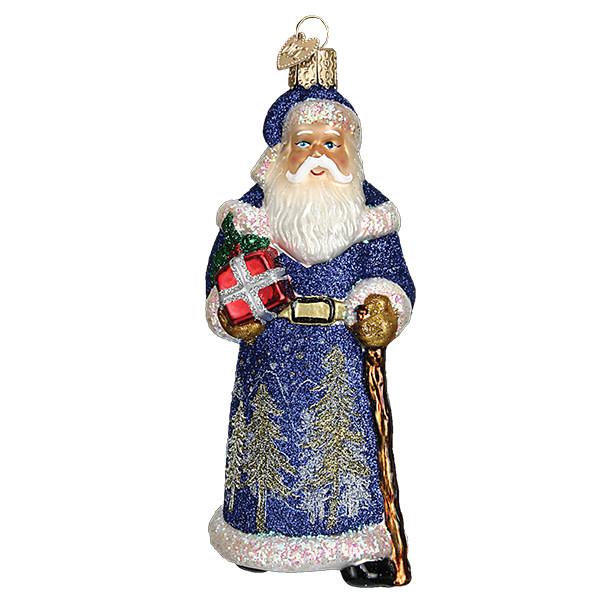 Old World Christmas Glistening Midnight Santa