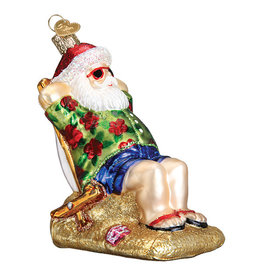 Old World Christmas Sunning Santa