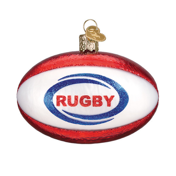 Old World Christmas Rugby Ball