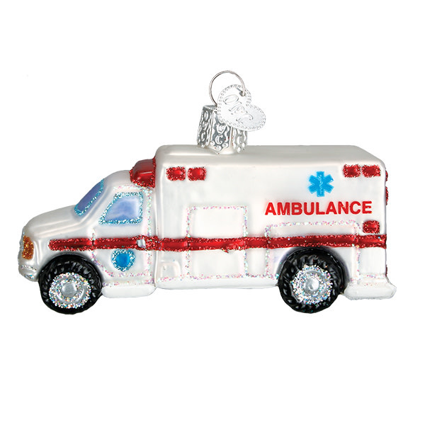 Old World Christmas Ambulance