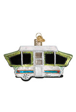 Old World Christmas Tent Camper