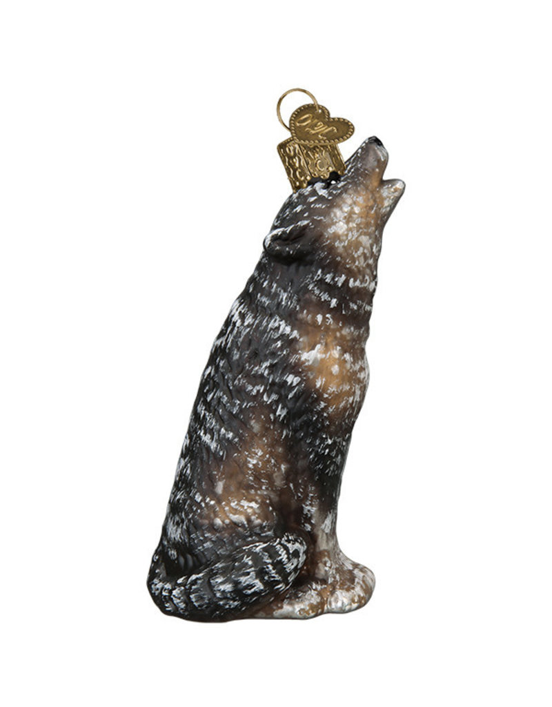 Old World Christmas Vintage Howling Wolf
