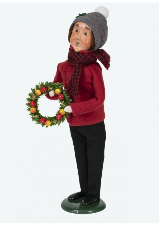 Byers' Choice Carolers Miller Man with Wreath